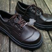 Подростковые ботинки Kangfu натуральная кожа,(31-36)Наложенный платеж.