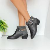 Натуральная кожа кожаные ботинки полусапожки H&M