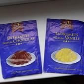 2 упаковки для приготовления шоколадного и ванильного десерта. до 2020 г. Лично привезла из Франции