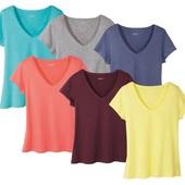 ==Комплект 2 футболки= серая+ нюдовая синяя качество отменное Esmara Германия евро 40/42