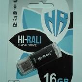 Распродажа!спешите старт ниже оптовой,флешка 16Gb Hi-Rali Rocket Black, флеш накопитель