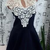 Мой пролет. Новое, шикарнейшее платье дайвинг+ажур-вязка! люксовый сток