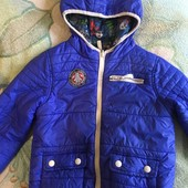 Двухсторонняя деми куртка,расцветка супер,4-5 лет,рост 110-116