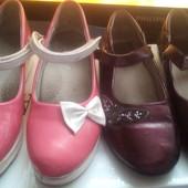 Туфельки для девочки лот 3 пары