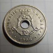 Монета. Бельгия. 5 сентим 1906 года!
