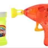 Мыльные пузыри Пистолет с запаской, 3 цвета, свет! Дети в восторге!