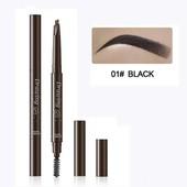 ❤ Оттенок Black (черный) ❤ Водостойкий карандаш для бровей с щеточкой