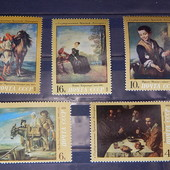Распродажа почтовых марок СССР. серия из 5-ти марок. Живопись. эрмитаж. чистые. 1972 год.