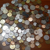 Гора заграничных монет! 158 шт. Все разные! Без повторов!
