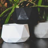 Большие геометрические кашпо под раскраску)+отличный декор для дома! Можно садить растения) Лот 2шт