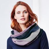 Красивая многоцветная шаль - снуд  от тсм Tchibo (Германия)