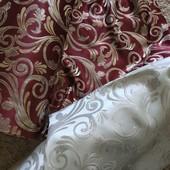 Королевские шторы вензель двухсторонние. Метраж добираем по цене лота. Цвет на выбор