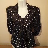 Красивая блуза в горошек -р.S,M, производство США