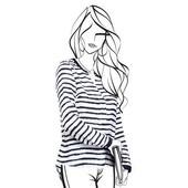 Блузка свободного силуэта со стильным графическим принтом от Tchibo, размер 38 евро=44-46