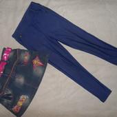 Джеггинсы и джинсовая юбка одним лотом .
