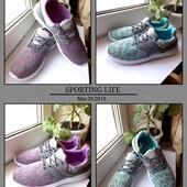 Красивые стильные кроссовки ,бирюза и сирень! На ножке невесомые - очень удобные и практичные 37-41.