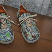 Пролет! Суперовые кожанные ботиночки из Германии,легкие,р 40 ст 25.5 см изнутри,широкая ножка!