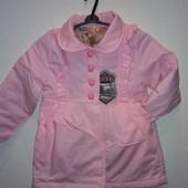 Распродажа демисезонная куртка-плащ на маленьких модниц,в наличии темно-синяя,пудра 2-6 лет