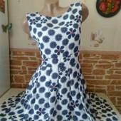 Новое шикарное платье!!!Плотный шифон,на подкладке Tenki! 14 р