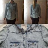 Джинсовая рубашка и блузы в хорошем состоянии, размер 42