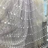 Тюль фатин  с вышивкой Турция (добор метража по цене ставки)