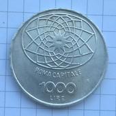 Монета Италии 1000 лир 1970 (серебро)
