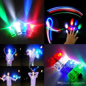Световое шоу!Светящийся лазерный свет-минифонарик на палец.\5шт-упаковка\