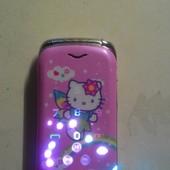 Телефон Hello Kitу раскладушка, на 2 симки