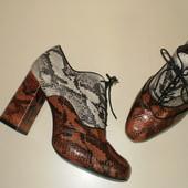 Кожаные ботинки из кожи питона Andre (Андре) 38р.