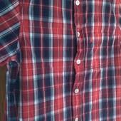 Лёгкая летняя котоновая рубашка+ свитшот на 8-9 лет, без пятен и дырок