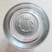 Монета 1 франк 1968 года, Люксембург.