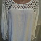Белоснежная блузочка с кружевом.