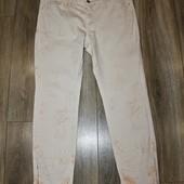Нюдовые летние джинсы с замочками/ новые  /стрейч Authentic