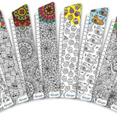 Закладки картонные. Раскраска-антистресс в наборе 8 штук. Лоты комбинирую.