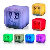 Светящиеся часы-хамелеон кубик, ночник с будильником и термометром...Новые