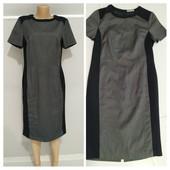 Классическое платье с трикотажными вставками,uk-14