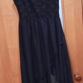 Платье со шлейфом р.М