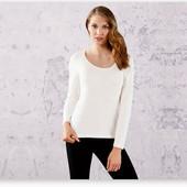 женская футболка с длинным рукавом, лонгслив Esmara. Спинка- декор-молния размер на выбор!