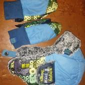 Шапка зимняя+рукавички