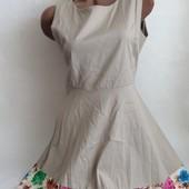 Бежевое котоновое платье Isabel