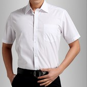 Летняя белая рубашка в состоянии новой,пог 72 см