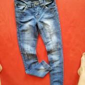 Красивые джинсы скинни девочке Crash One 152 в прекрасном состоянии