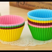 Формочки бумажные для кексов цветные!!! Лот 100 штук!!