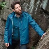 Качественная непромокаемая куртка, пропитка ecorepel, мембрана 3000 от Tchibo Германия размер евро Л