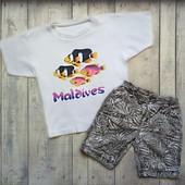 Классный комплект на мальчика 5-7 лет,футболка и шорты