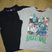 2 футболки на мальчика 4-5лет замеры на фото