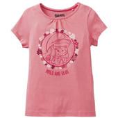 Симпатичная футболочка для девочки смурфики Smurfs Германия размер 110/116