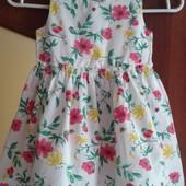 Фирменное летнее платье на 3-4 года, состояние новой вещи.