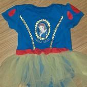 Disney Боди платье принцессы 12-18 мес