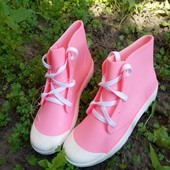 Резиновые ботинки на шнурках 36,37,38